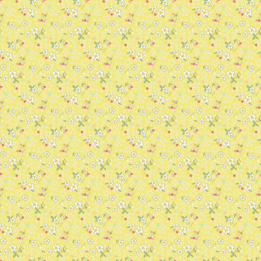 Yellow Fleuri Fabric from Serendipity Collection at Cherry Creek Fabric