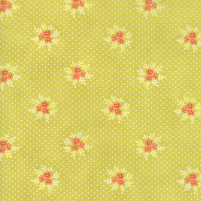 Light Green Floral Posies Fabric from Ella & Ollie Collection at Cherry Creek Fabric