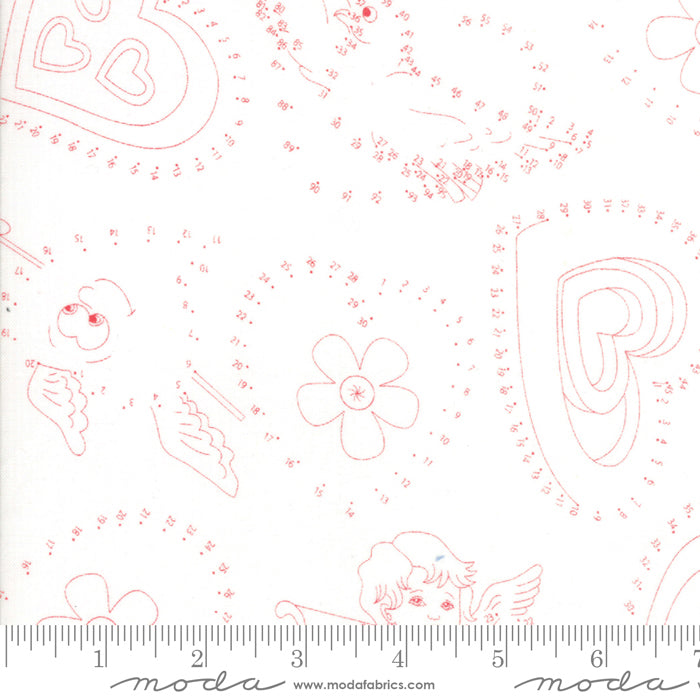 White Connect the Dots Fabric from REDiculously Red Collection at Cherry Creek Fabric