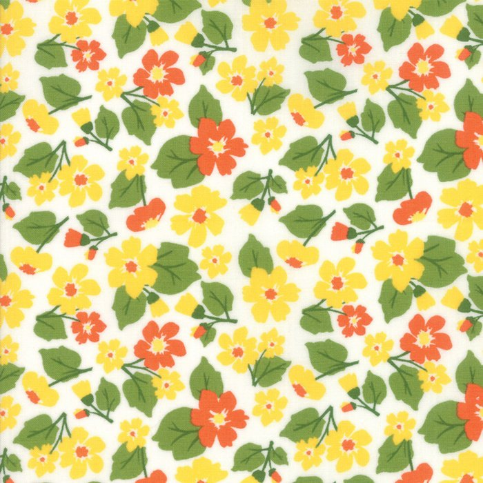 Yellow Flower Field Fabric