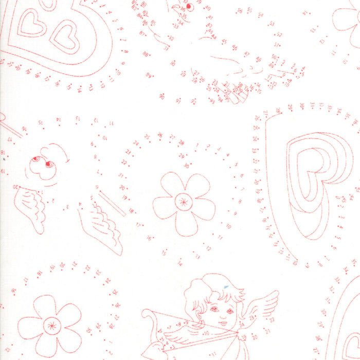 Rediculously in Love by Me & My Sister | White Connect the Dots Fabric - 5 Yard Backing
