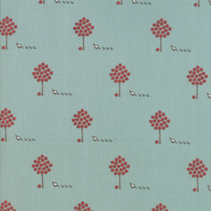 Aqua Maple Trees Fabric