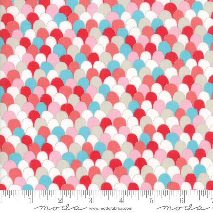 Multi Scalloped Feathers Fabric from Farm Fresh Collection at Cherry Creek Fabric