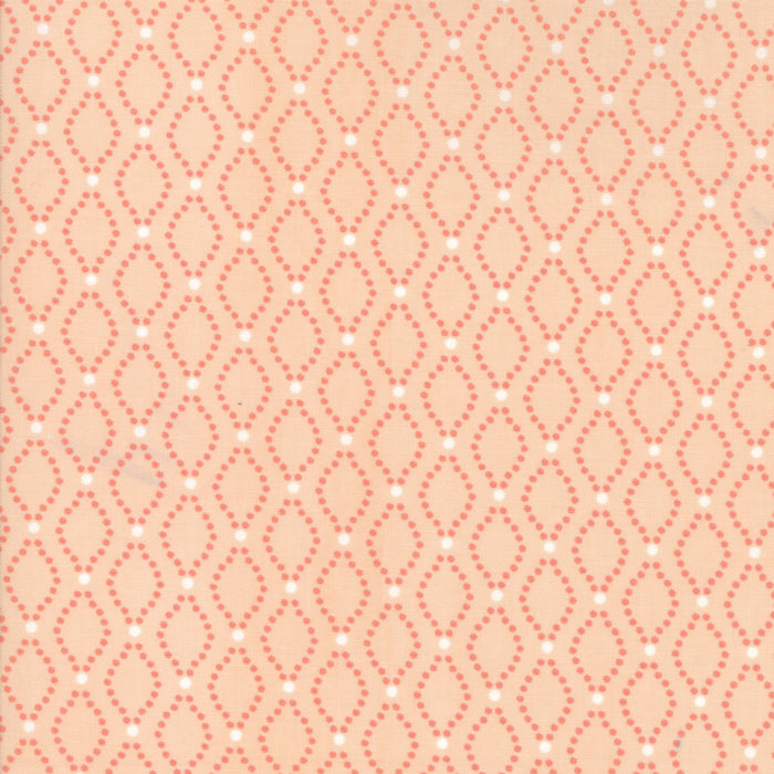Peach Floral Seeds Fabric