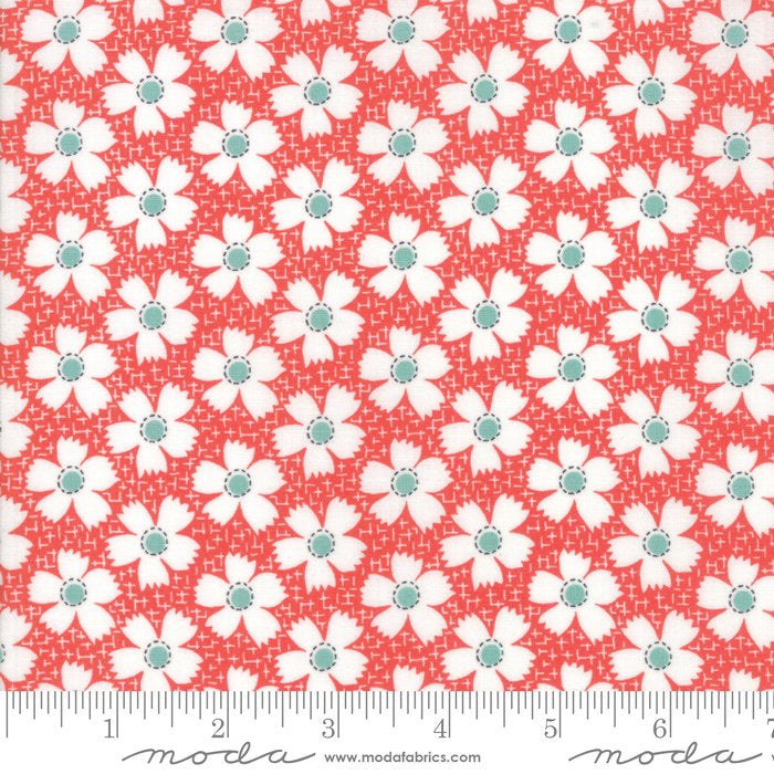 Red Gingham Daisies Fabric from Farmhouse II Collection at Cherry Creek Fabric