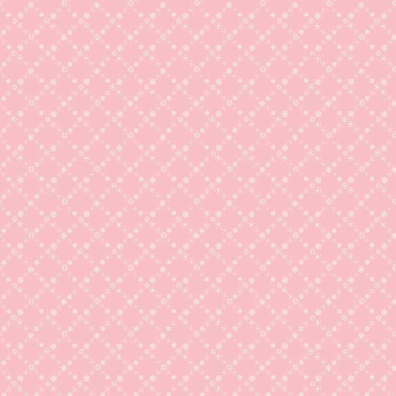 Pink Snow Cross Fabric
