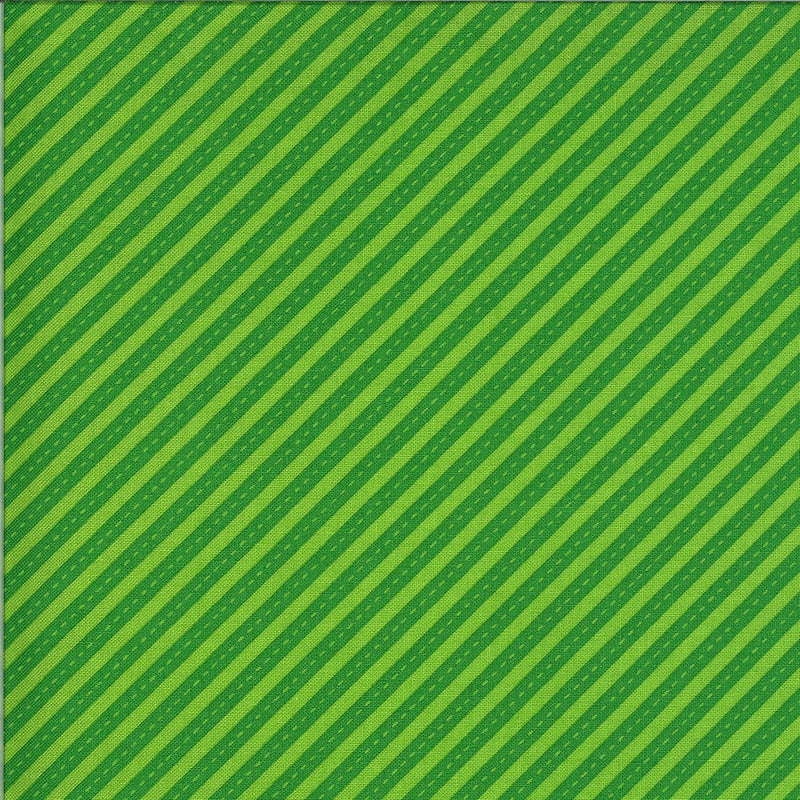 Green Bias Stripes Fabric | On the Go