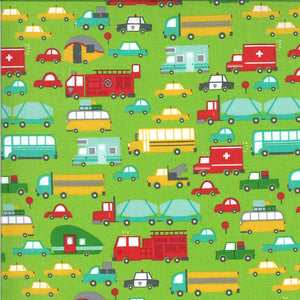 Green Beep Beep Fabric | On the Go