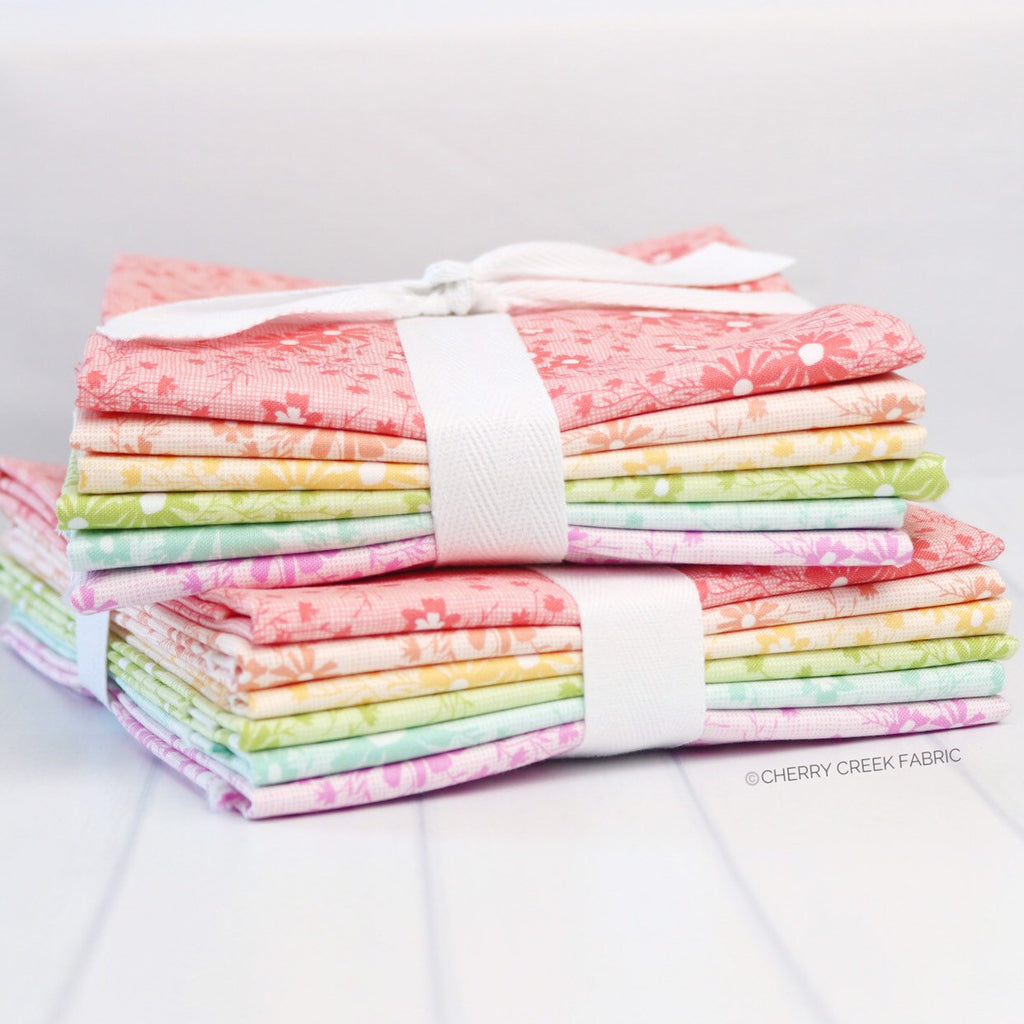 Sunnyside Up Rainbow Half Yard Bundle - 6 pieces