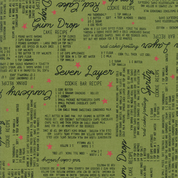 Merry Starts Here by Sweetwater | Green Christmas Recipe Fabric