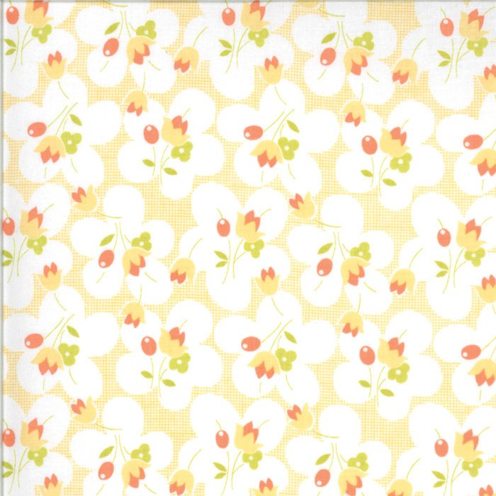 Peach Posies Fabric