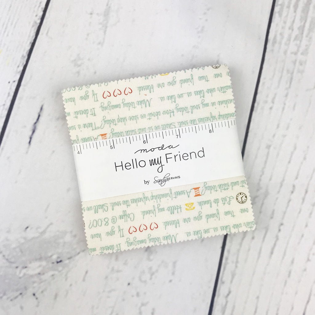 Hello My Friend Charm Pack - Sandy Gervais - 42 pieces