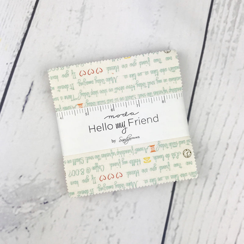 Hello My Friend Charm Pack from Hello My Friend Collection at Cherry Creek Fabric