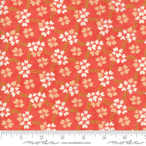 Red Daisy Rings Fabric from Ella & Ollie Collection at Cherry Creek Fabric