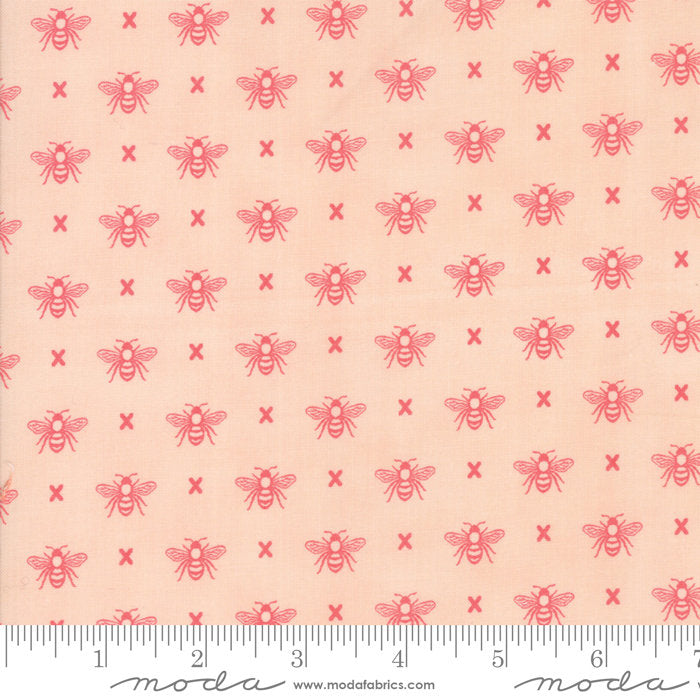 Garden Variety by Lella Boutique | Pink Queen Bee Fabric from Garden Variety Collection at Cherry Creek Fabric
