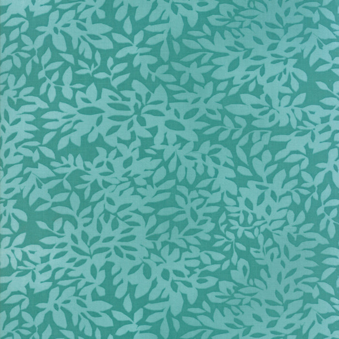 Dear Mum by Robin Pickens | Teal Leaves Fabric from Dear Mum Collection at Cherry Creek Fabric