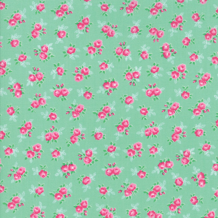 Green Sweet Floral Fabric