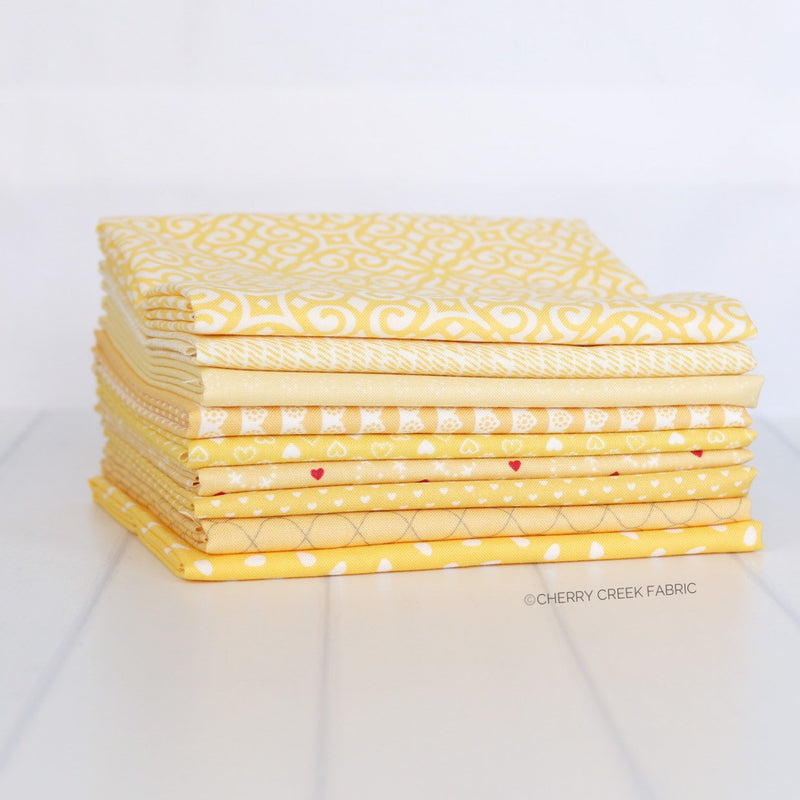 Yellow Fat Quarter Bundle - 9 pieces from Cherry Creek Fabrics Collection at Cherry Creek Fabric