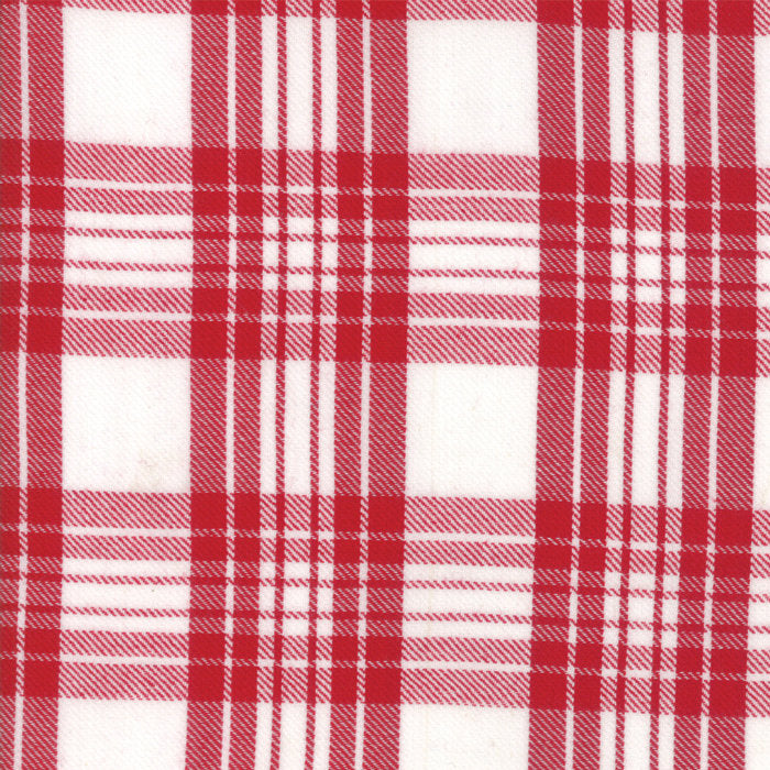 Red Plaid Woven Fabric