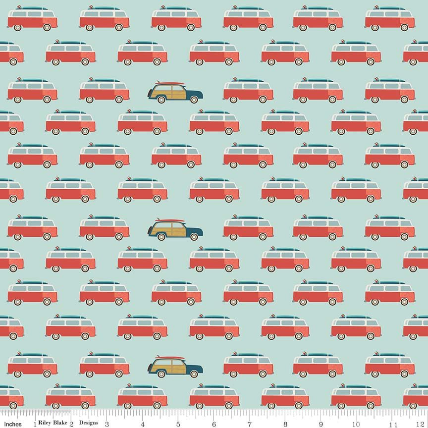 Blue Wagon Fabric from Offshore 2 Collection at Cherry Creek Fabric
