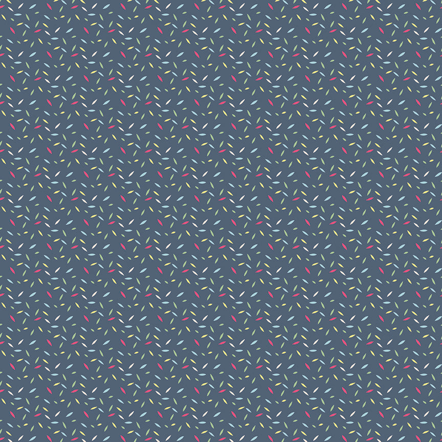 Navy Sprinkles Fabric from Serendipity Collection at Cherry Creek Fabric