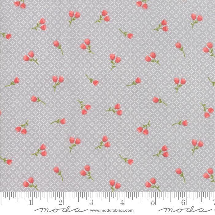 Strawberry Jam Fabric - Grey Floral Geometric Fabric - Corey Yoder - Moda Fabric - Floral Fabric - Flower Fabric - Fabric by the Yard from Cherry Creek Fabric & Crafts Collection at Cherry Creek Fabric