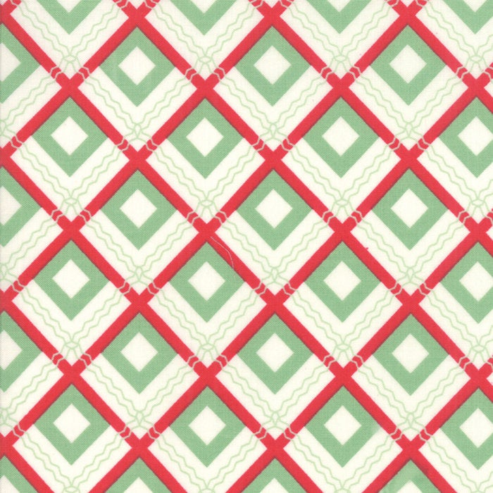 Sweet Christmas by Urban Chiks | Green Christmas Plaid Fabric
