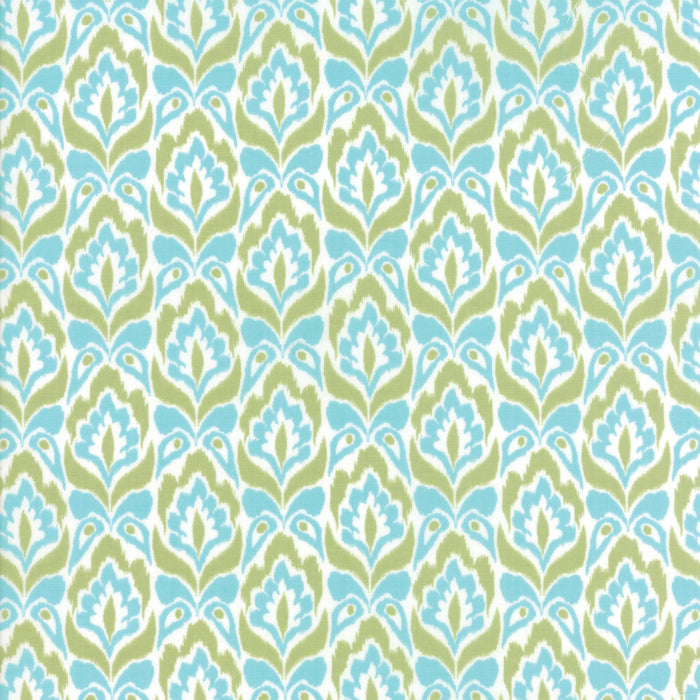 Aqua Lime Tapestry Fabric