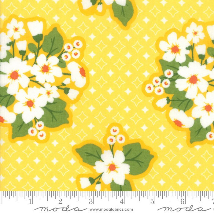 Yellow Last Blooms Fabric from All Weather Friend Collection at Cherry Creek Fabric