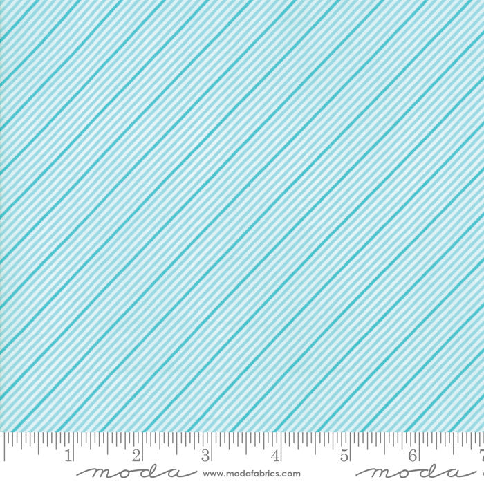 Turquoise Stripes Fabric from Coledale Collection at Cherry Creek Fabric