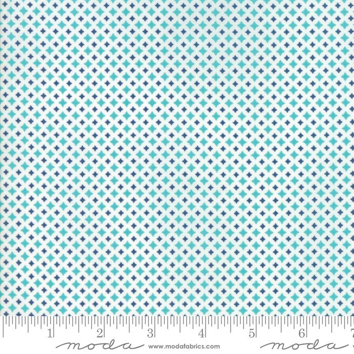 Turquoise Diamond Fabric from All Weather Friend Collection at Cherry Creek Fabric