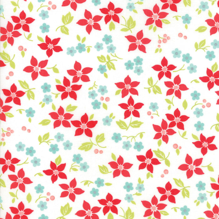 Ivory Poinsettia Fabric