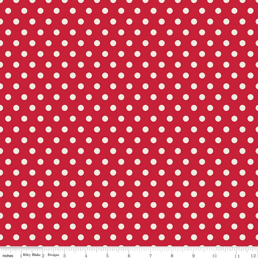 Red Dots Fabric from Harry & Alice Collection at Cherry Creek Fabric