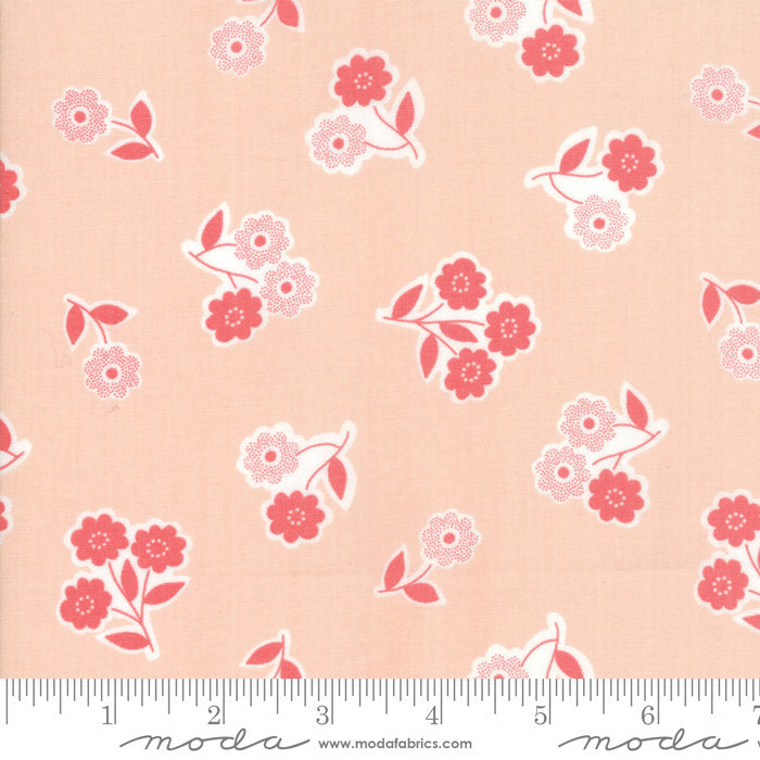 Garden Variety by Lella Boutique | Pink Handpicked Bouquet Fabric from Garden Variety Collection at Cherry Creek Fabric