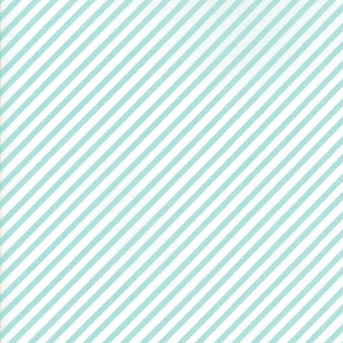 Aqua Candy Stripe Flannel Fabric