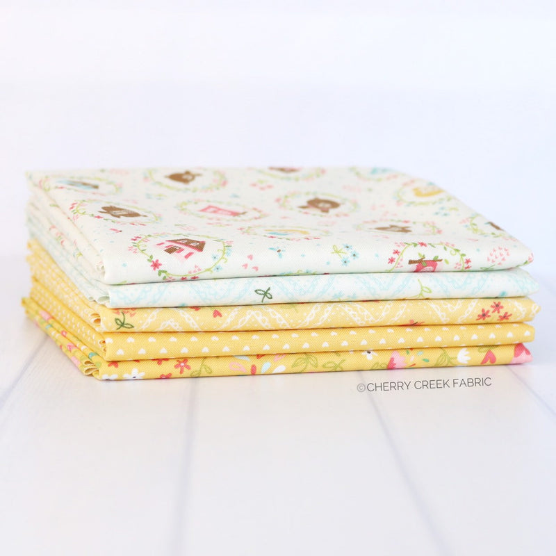 Home Sweet Home Yellow Fat Quarter Bundle from Home Sweet Home Collection at Cherry Creek Fabric