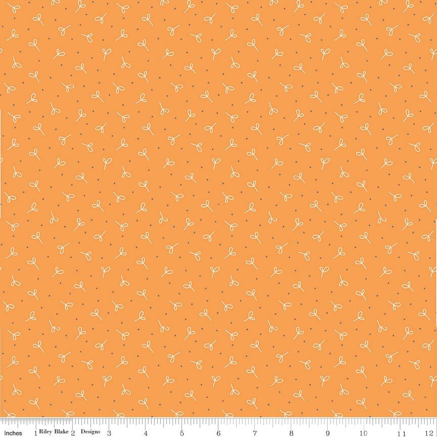 Orange Seedling Fabric from Farm Girl Vintage Collection at Cherry Creek Fabric