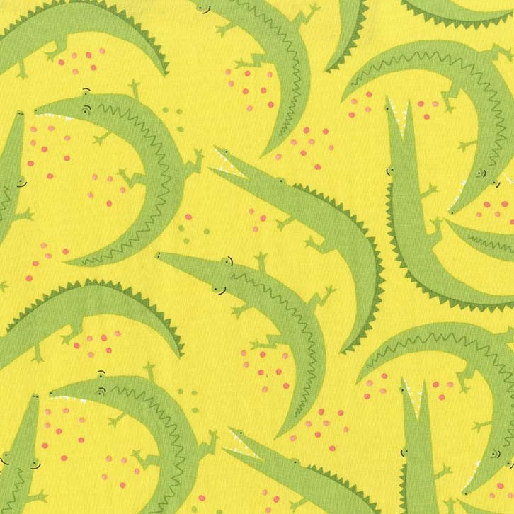 Everglades by Betsy Siber | Yellow Alligator Chomp Fabric