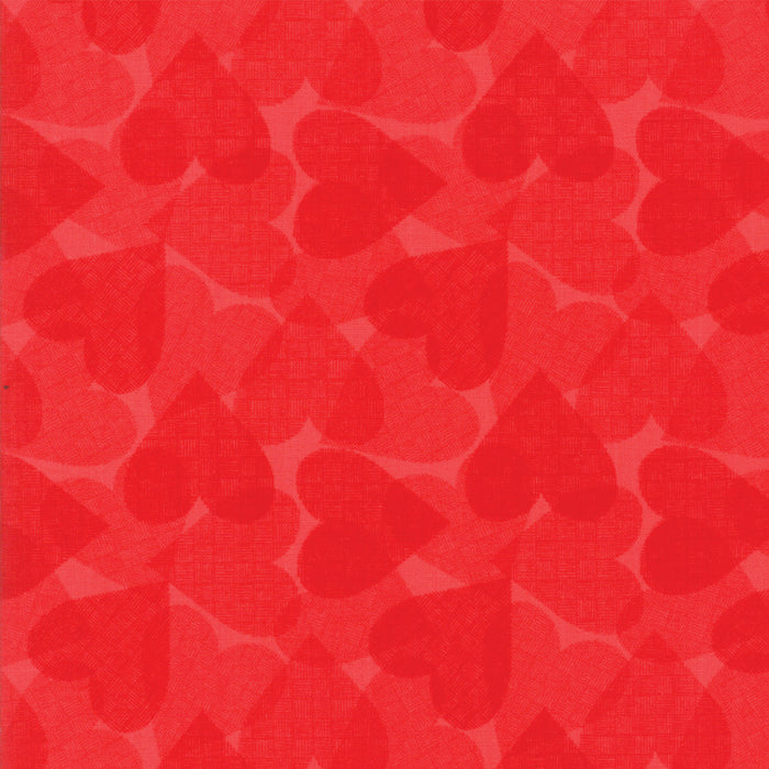 Red Hearts Fabric from REDiculously Red Collection at Cherry Creek Fabric