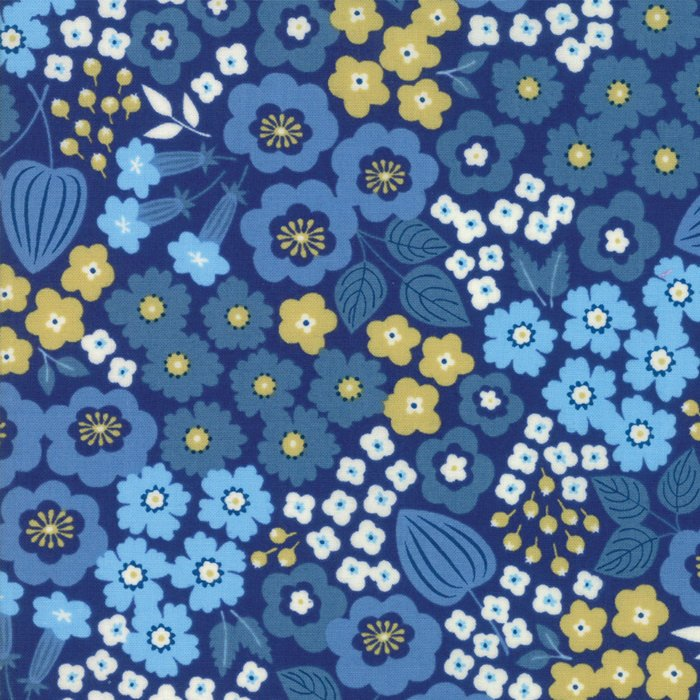 Blue Floral Fabric from Lazy Days Collection at Cherry Creek Fabric