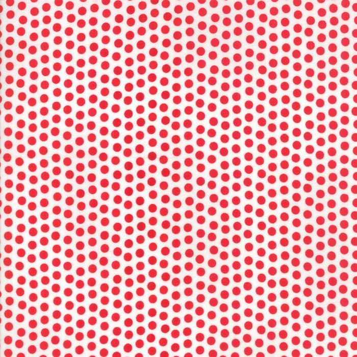 Red Cherry Dots Fabric from Badda Bing Collection at Cherry Creek Fabric