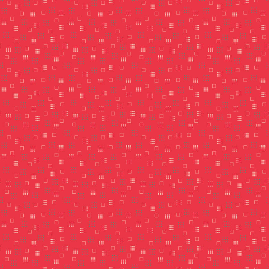 Red Squares Fabric from Autumn Love Collection at Cherry Creek Fabric
