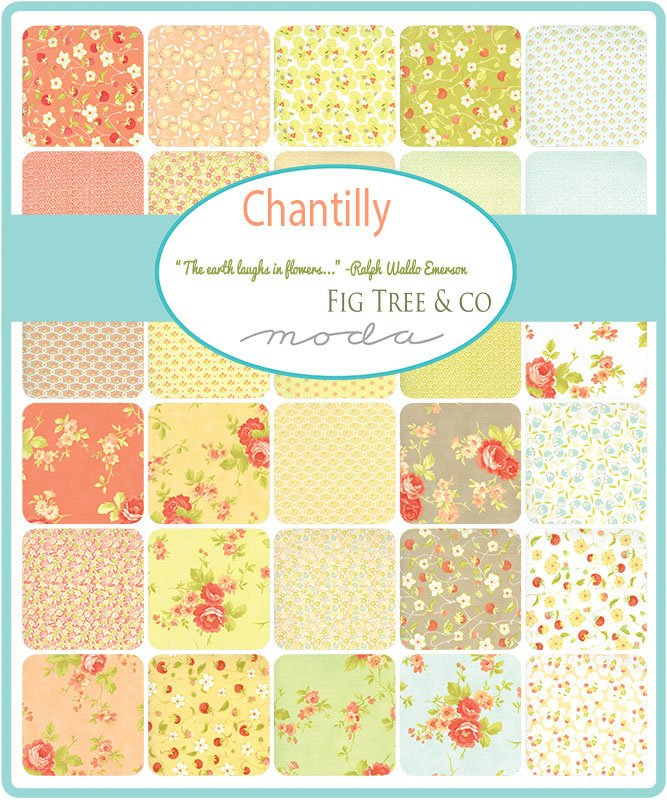 Chantilly by Fig Tree & Co | Green Posies Fabric