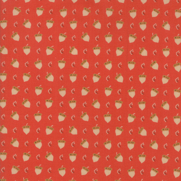 Red Acorn Berries Fabric from 101 Maple Hill Collection at Cherry Creek Fabric
