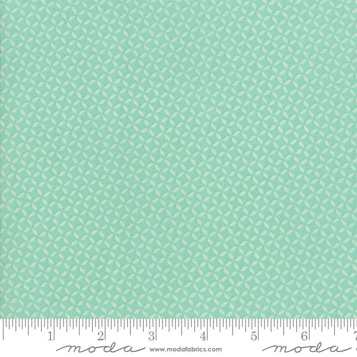 Turquiose Geometric Fabric from Sunnyside Up Collection at Cherry Creek Fabric