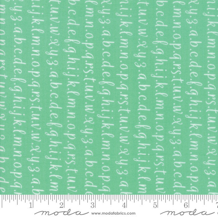 Strawberry Jam Fabric - Turquoise Alphabet Fabric - Corey Yoder - Moda Fabric - Text Fabric - Wording Fabric - Fabric by the Yard from Cherry Creek Fabric & Crafts Collection at Cherry Creek Fabric