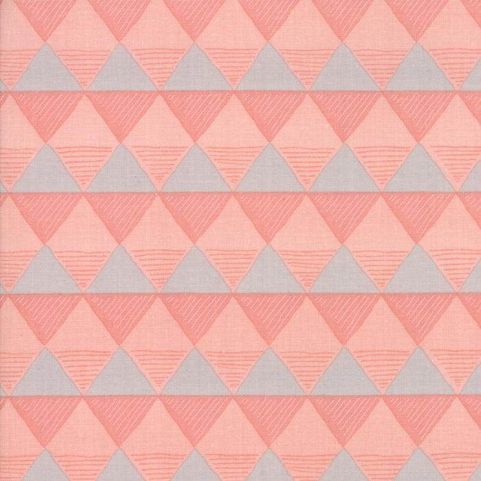 Coral Triangles Fabric