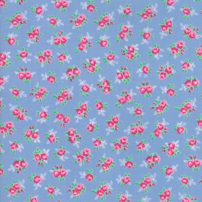 Blue Sweet Floral Fabric