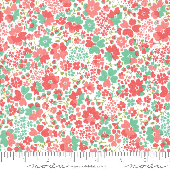 Strawberry Jam Fabric - Multi Floral Meadow Fabric - Corey Yoder - Moda Fabric - Floral Fabric - Pink Fabric - Fabric by the Yard from Cherry Creek Fabric & Crafts Collection at Cherry Creek Fabric