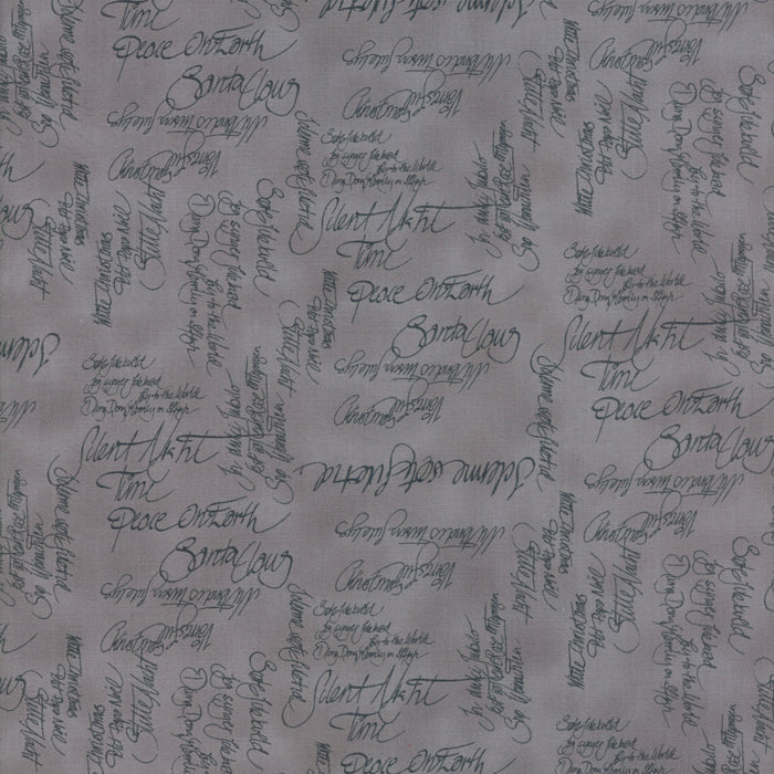 Grey Carols Fabric from Sno Collection at Cherry Creek Fabric